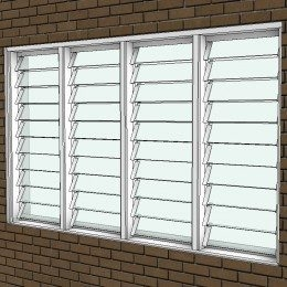 Breezway: Altair Easyscreen Louvre Window with Stronghold System